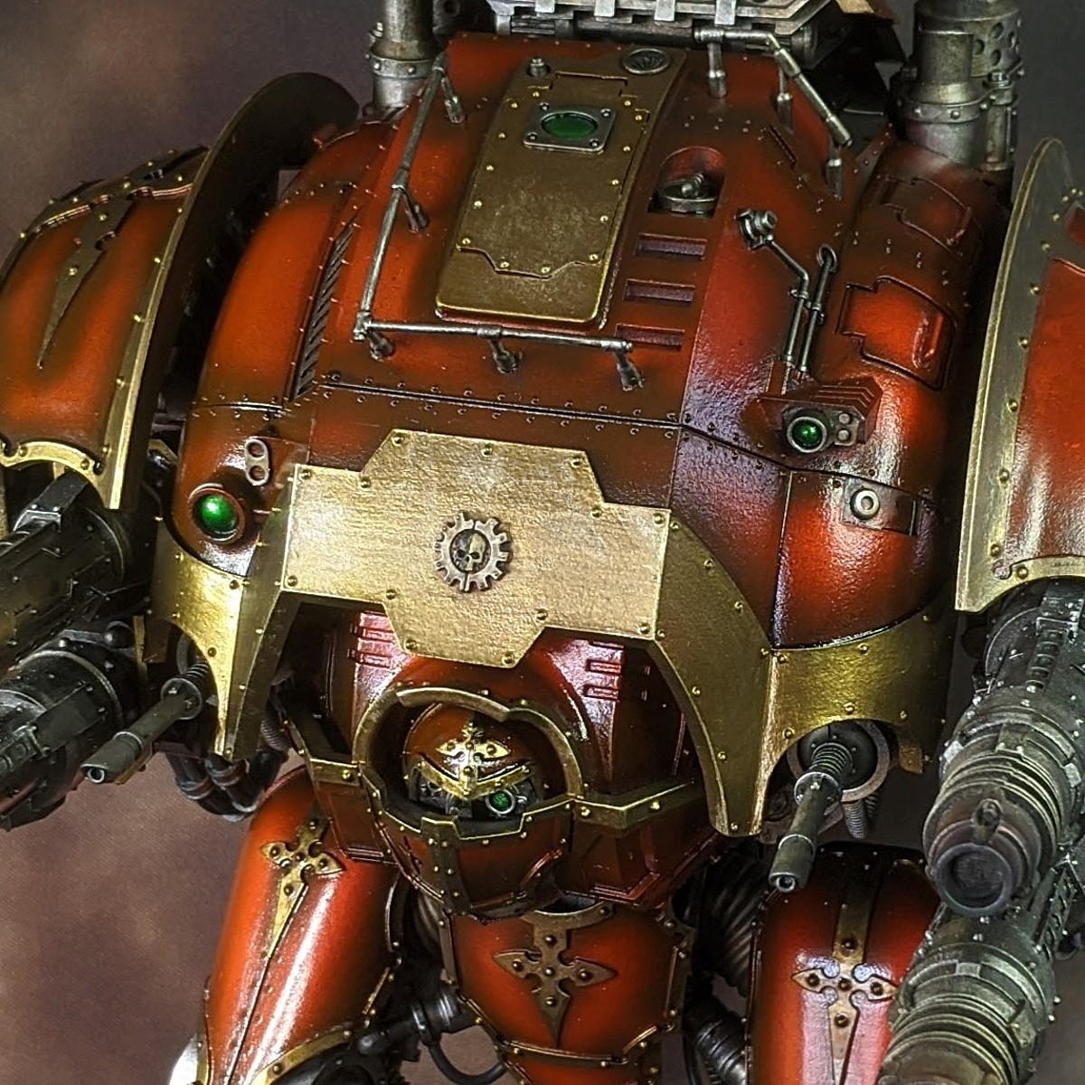 Glossy Red Armour - Airbrush Method
