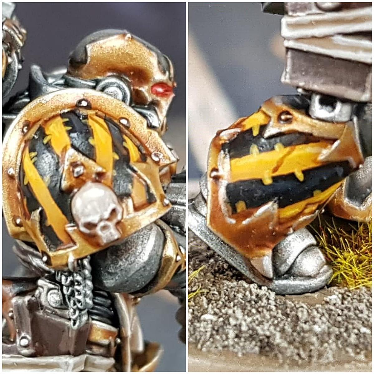 Iron Warrior Hazard Stripes