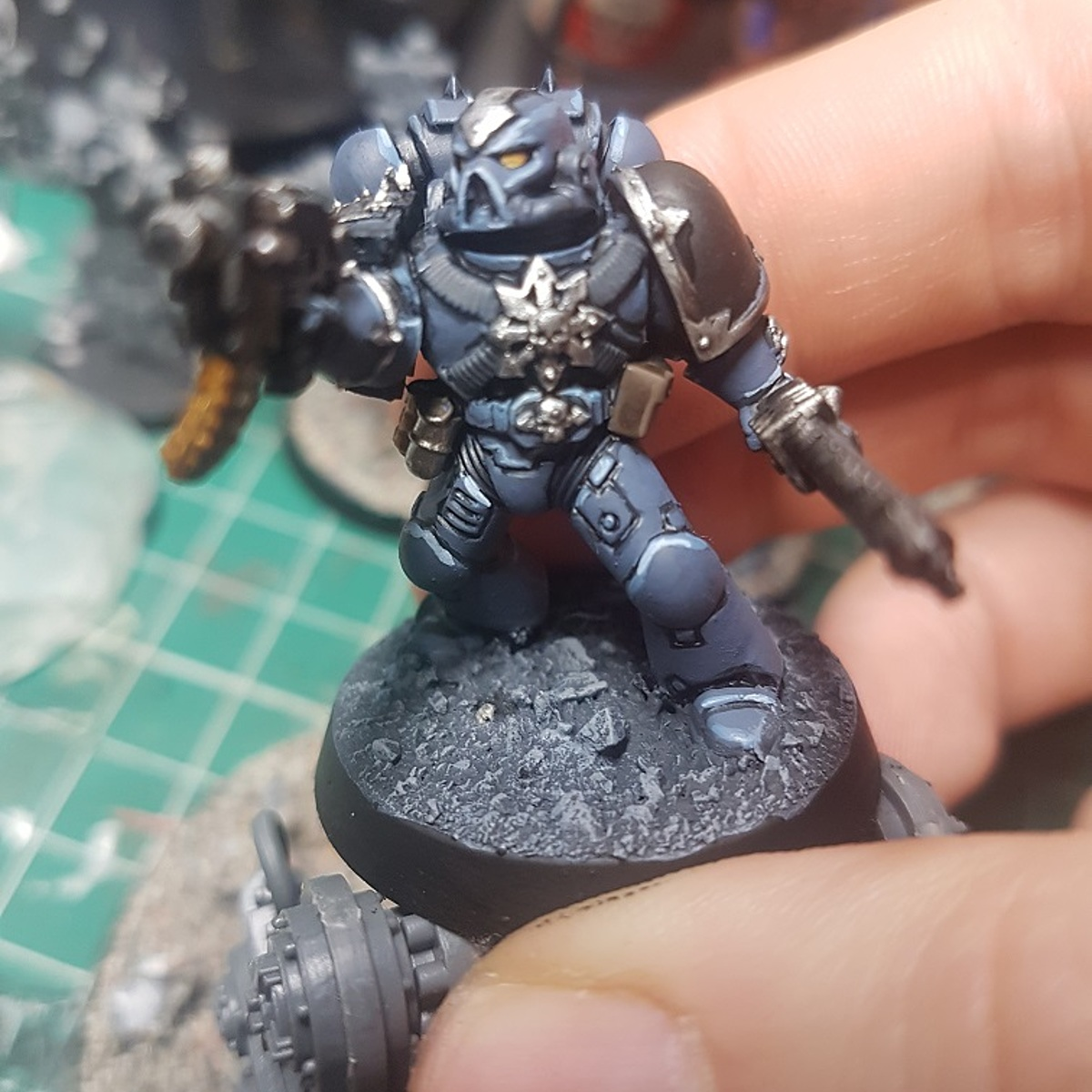 Cold Blue Chaos Space Marines