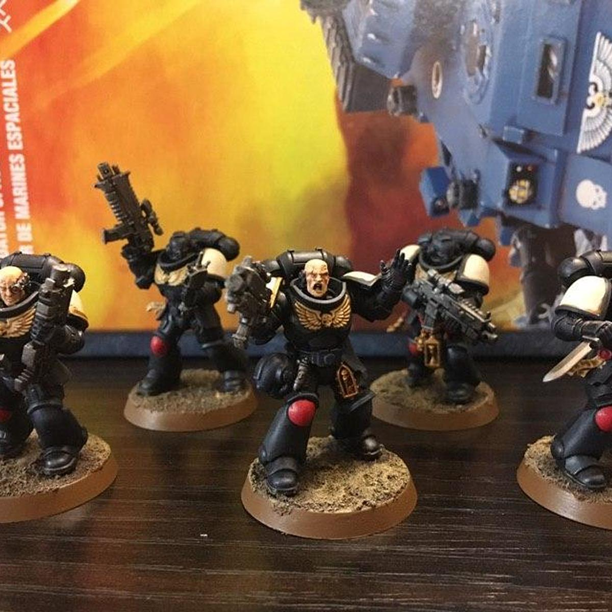 Quick Black Templars with Dry Brushing