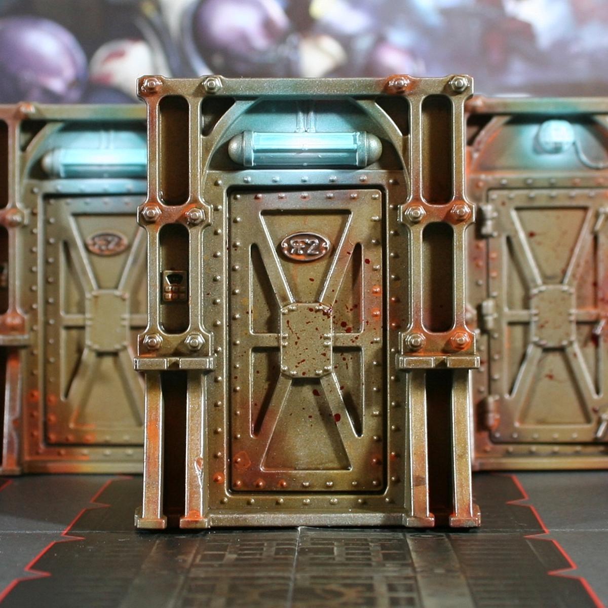 Weathered Metal Doors